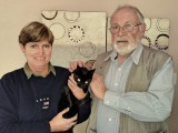 Miss Deed & her carer with Sandton SPCA's Dr Kempis