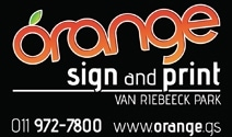 Orange Sign and Print